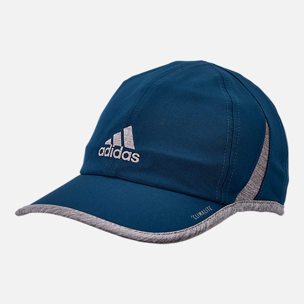 Front view of adidas Superlite Adjustable Back Hat in Legend Marine