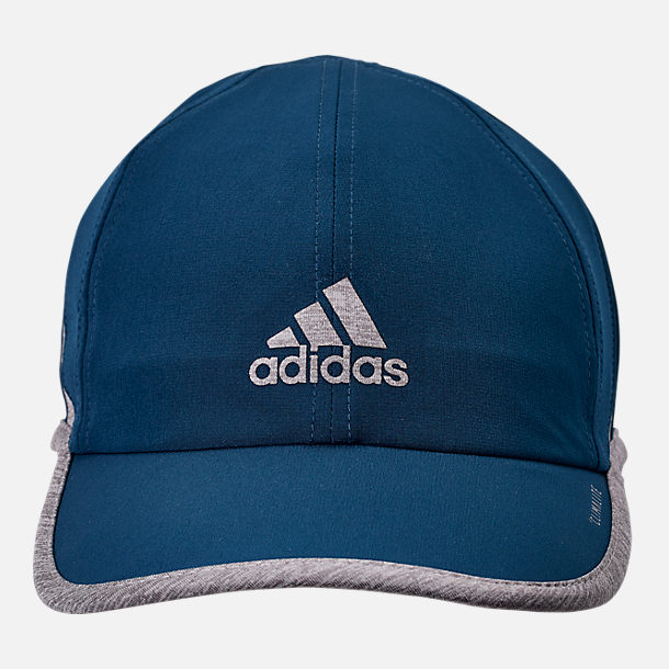 Back view of adidas Superlite Adjustable Back Hat in Legend Marine