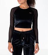 Women's Puma Long-Sleeve Velvet Crop Shirt