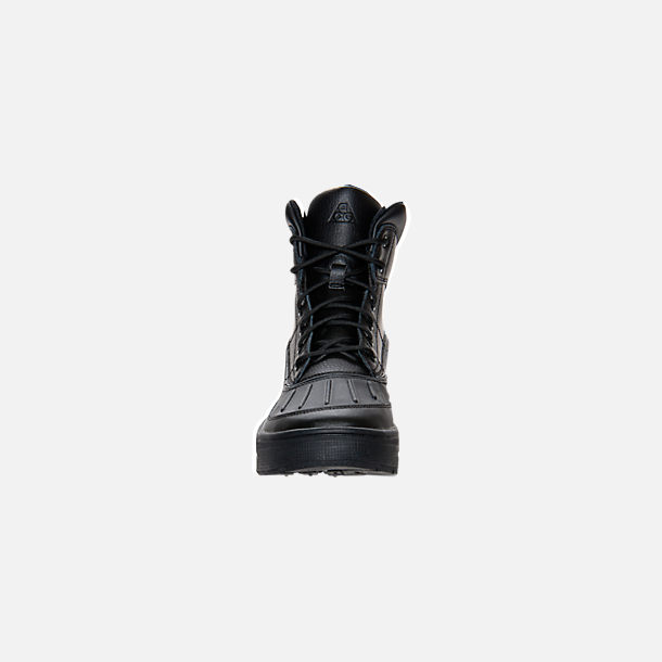 Front view of Big Kids' Nike ACG Woodside Boots in Black/Black