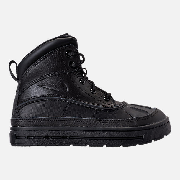 Right view of Boys' Little Kids' Nike Woodside 2 High Boots in Black/Black