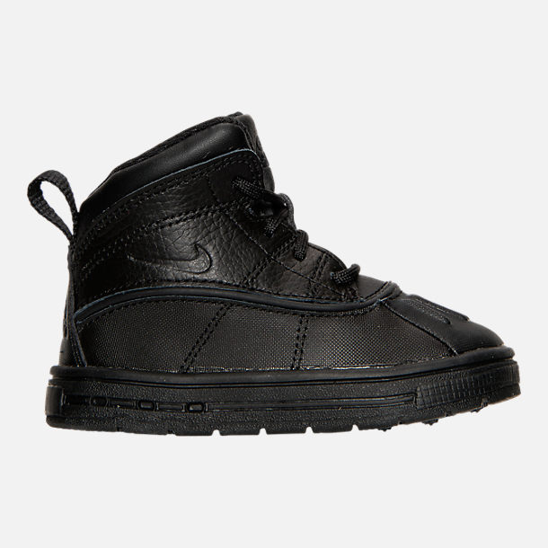 Right view of Boys' Toddler Nike Woodside 2 High Boots in Black
