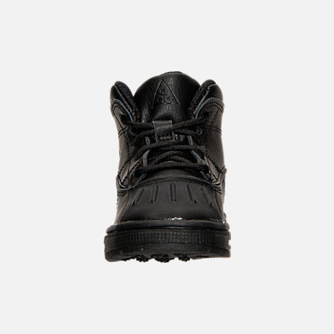 Front view of Boys' Toddler Nike Woodside 2 High Boots in Black
