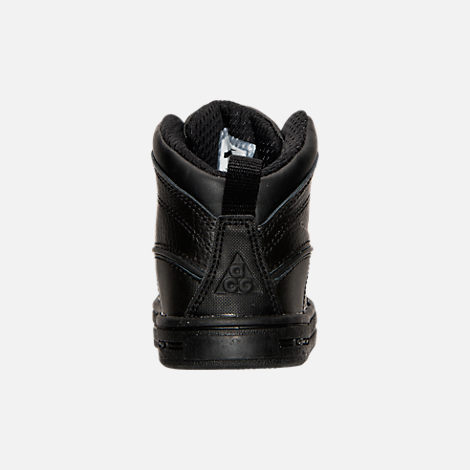 Back view of Boys' Toddler Nike Woodside 2 High Boots in Black