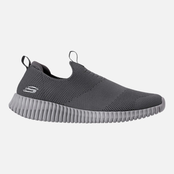 Right view of Men's Skechers Elite Flex Slip-On Casual Shoes in Charcoal