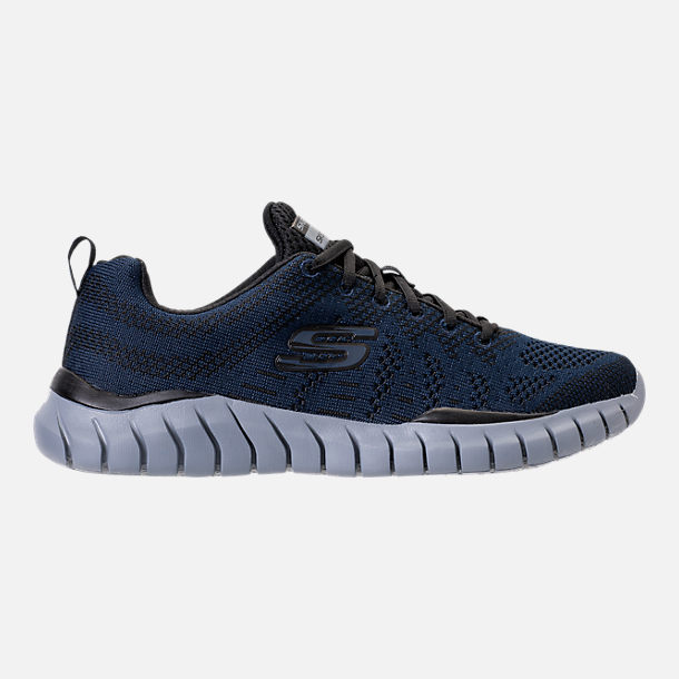 Right view of Men's Skechers Overhaul - Debbir Running Shoes in Navy/Black