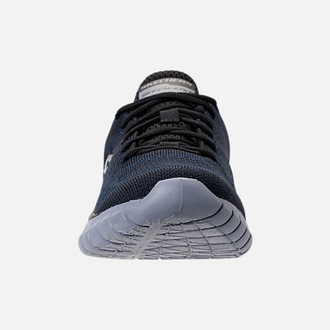 Front view of Men's Skechers Overhaul - Debbir Running Shoes in Navy/Black