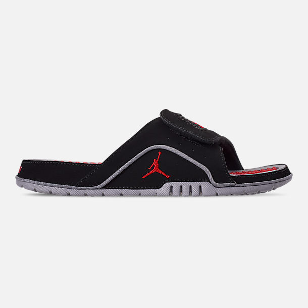 cc62232fd11 Right view of Men's Jordan Hydro 4 Retro Slide Sandals in Black/Fire Red/