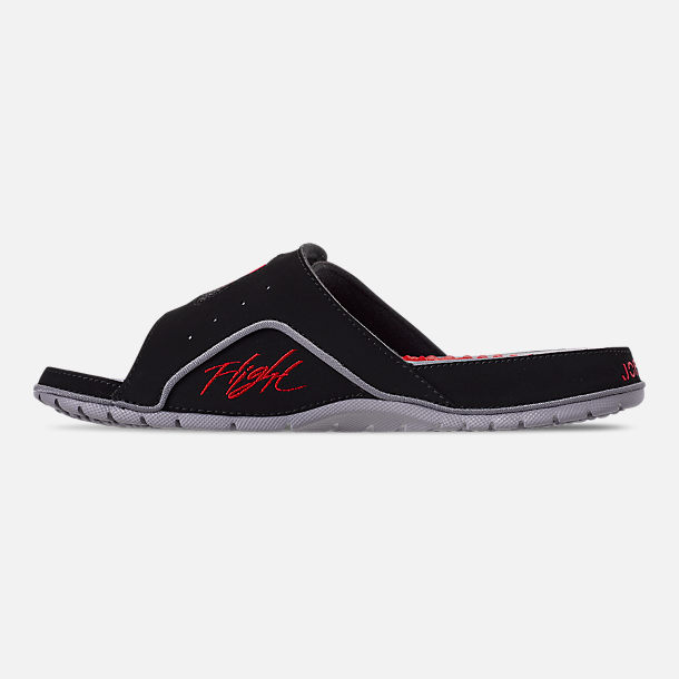 99749950c2ce23 Left view of Men s Jordan Hydro 4 Retro Slide Sandals in Black Fire Red