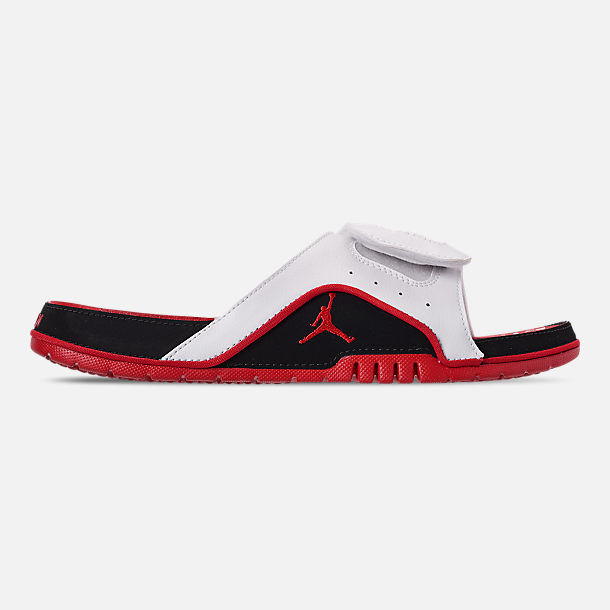 753b0a364655 Right view of Men s Jordan Hydro 4 Retro Slide Sandals in White Fire Red
