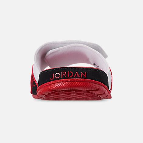 4483821ccf7cd6 Back view of Men s Jordan Hydro 4 Retro Slide Sandals in White Fire Red