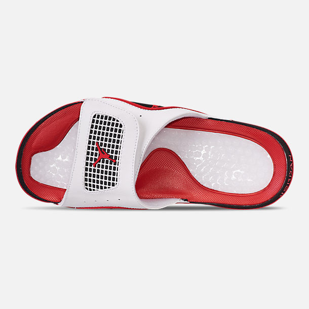 0a841b11d17e5 Top view of Men s Jordan Hydro 4 Retro Slide Sandals in White Fire Red