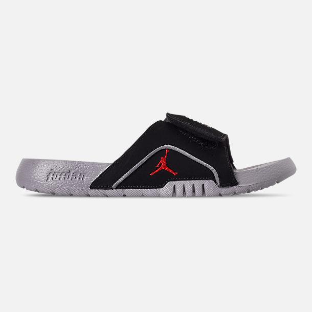 e2ce5a53f327 Right view of Boys  Big Kids  Jordan Hydro 4 Retro Slide Sandals in Black