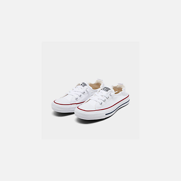 Three Quarter view of Women's Converse Chuck Taylor All Star Shoreline Casual Shoes in White