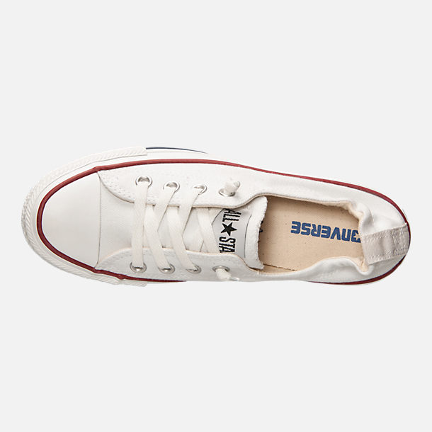 Top view of Women's Converse Chuck Taylor All Star Shoreline Casual Shoes in White