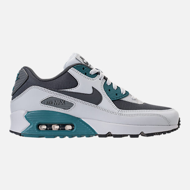 Right view of Men's Nike Air Max 90 Essential Running Shoes in Pure Platinum/Cool Grey/Noise