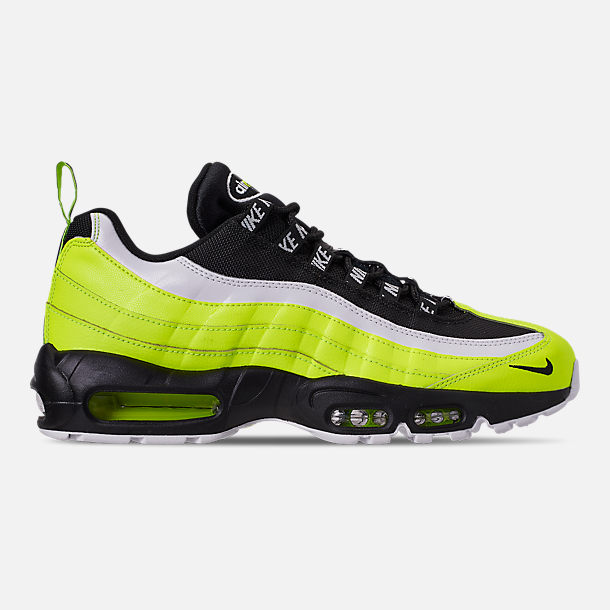 Right view of Men's Nike Air Max 95 Premium Casual Shoes in Volt/Black/Glow/Barely Volt
