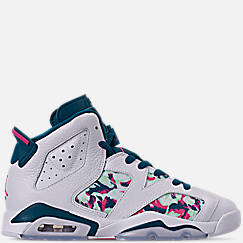 Girls' Big Kids' Air Jordan Retro 6 Basketball Shoes