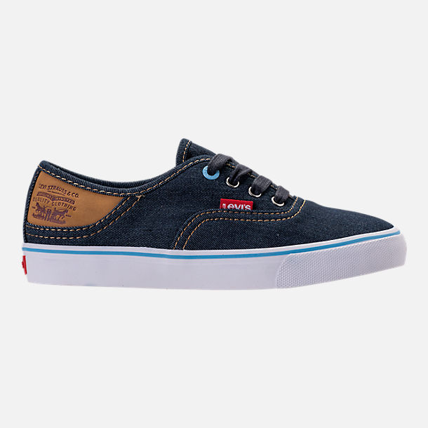 Right view of Boys' Preschool Levi's Monterey Denim Buck Casual Shoes in Navy/Sky