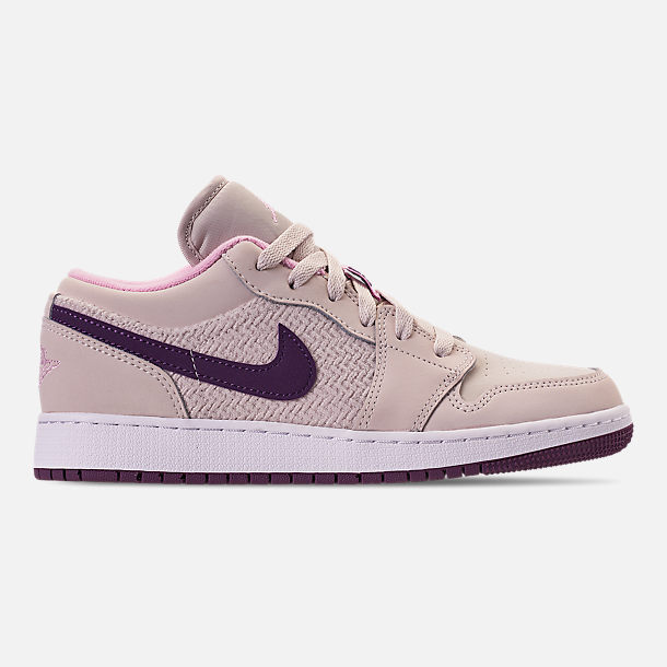 Right view of Girls' Big Kids' Air Jordan 1 Low (3.5y - 9.5y) Casual Shoes
