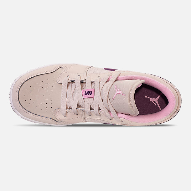 Top view of Girls' Big Kids' Air Jordan 1 Low (3.5y - 9.5y) Casual Shoes