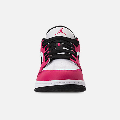 Front view of Girls' Big Kids' Air Jordan 1 Low (3.5y - 9.5y) Casual Shoes