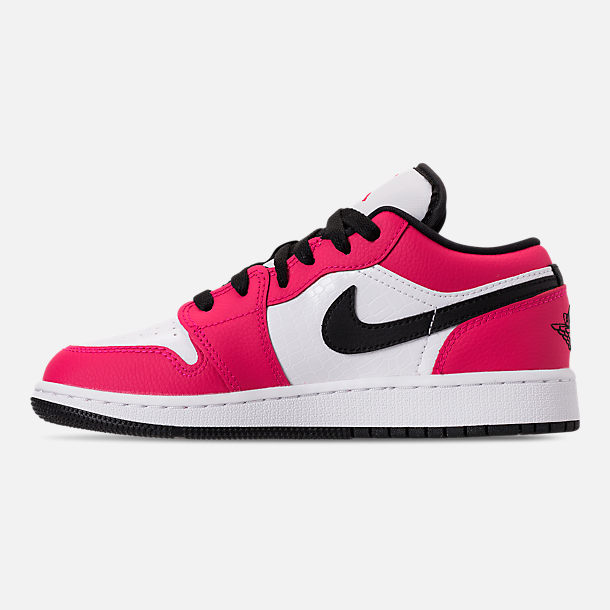 Left view of Girls' Big Kids' Air Jordan 1 Low (3.5y - 9.5y) Casual Shoes