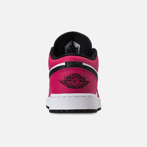Back view of Girls' Big Kids' Air Jordan 1 Low (3.5y - 9.5y) Casual Shoes