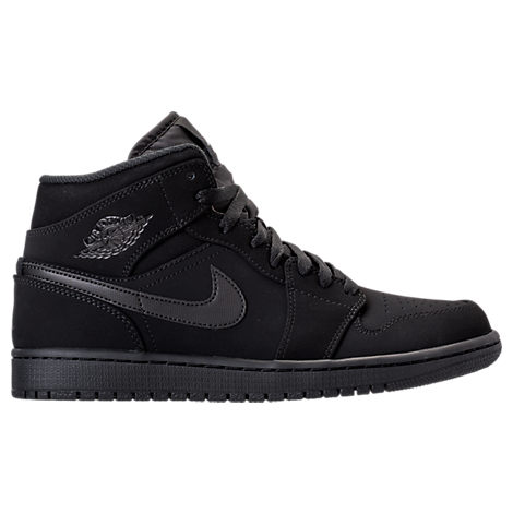 Nike Mens Air Jordan 1 Mid Retro Basketball Shoes Black
