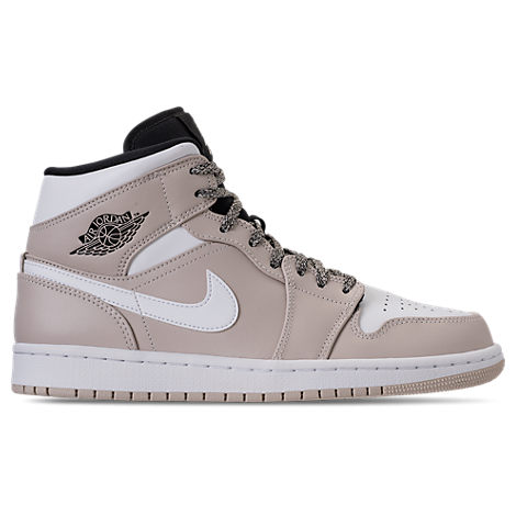 Nike Men S Air Jordan 1 Mid Retro Basketball Shoes Brown Modesens