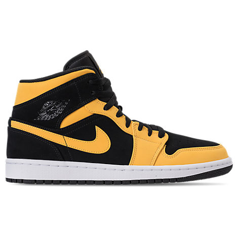Nike Men S Air Jordan 1 Mid Retro Basketball Shoes Black Modesens