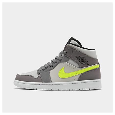 premium selection f6610 b0c08 Jordan Men's Air Jordan 1 Mid Retro Basketball Shoes, Grey - Size 10.0