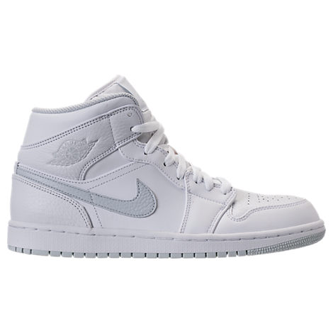 Nike Mens Air Jordan 1 Mid Retro Basketball Shoes White