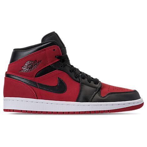 Nike Men S Air Jordan 1 Mid Retro Basketball Shoes Red Modesens