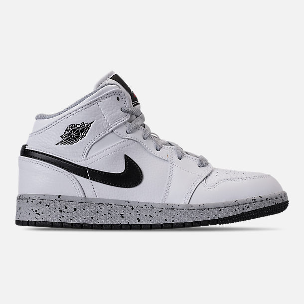 Right view of Big Kids' Air Jordan 1 Mid Basketball Shoes