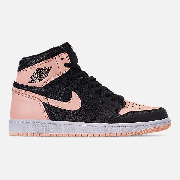87f371ab391f Right view of Men s Air Jordan Retro 1 High OG Basketball Shoes in  Black Crimson
