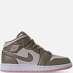 Girls' Grade School Air Jordan 1 Mid Basketball Shoes