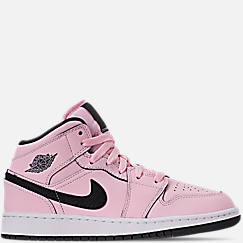 Girls' Big Kids' Air Jordan 1 Mid Basketball Shoes