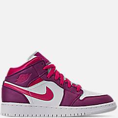 Girls  Big Kids  Air Jordan 1 Mid Casual Shoes. 1. 1 Color 1 Color e1bdbe793