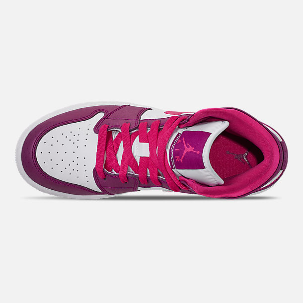 013d770436c Top view of Girls  Big Kids  Air Jordan 1 Mid Casual Shoes in True