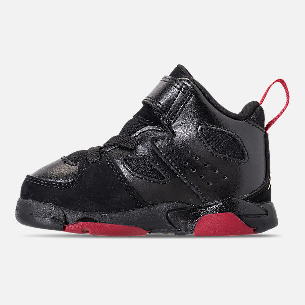 Left view of Boys' Toddler Air Jordan Flight Club '91 Basketball Shoes