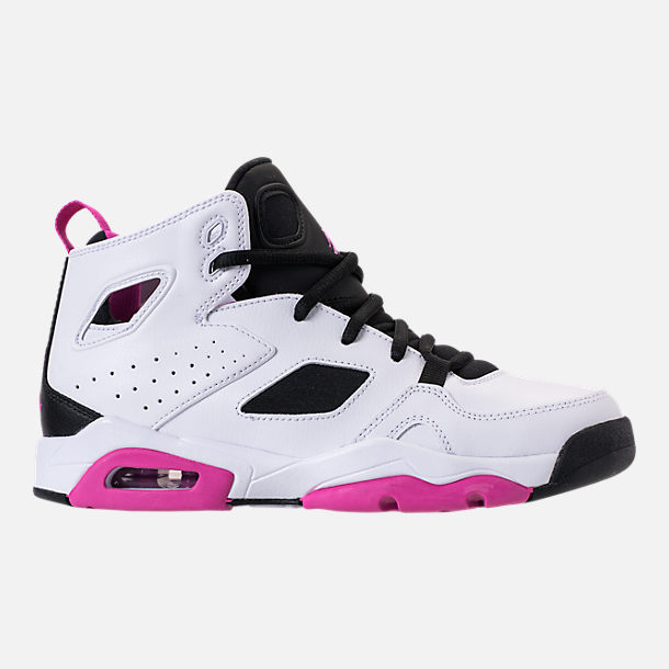 Right view of Girls' Big Kids' Air Jordan Flight Club '91 (3.5y - 9.5y) Basketball Shoes