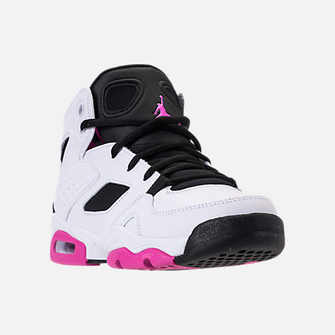 Three Quarter view of Girls' Big Kids' Air Jordan Flight Club '91 (3.5y - 9.5y) Basketball Shoes