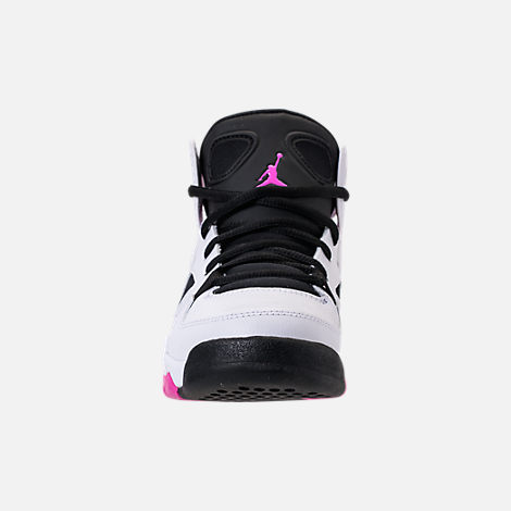 Front view of Girls' Big Kids' Air Jordan Flight Club '91 (3.5y - 9.5y) Basketball Shoes