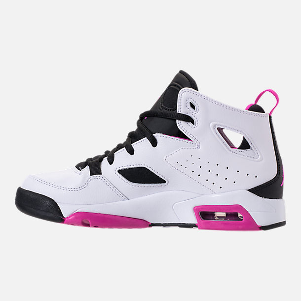 Left view of Girls' Big Kids' Air Jordan Flight Club '91 (3.5y - 9.5y) Basketball Shoes
