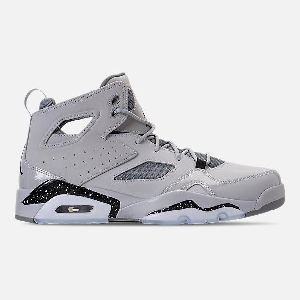 fadf4e3d8f6 ... cheap right view of mens air jordan flight club 91 basketball shoes in  wolf grey bb250