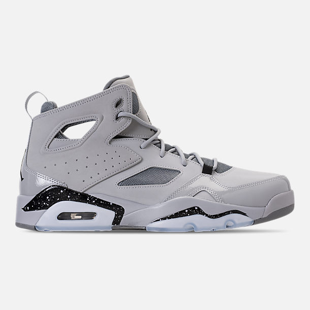 Right view of Men's Air Jordan Flight Club '91 Basketball Shoes in Wolf Grey/Black/Cool Grey