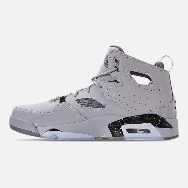 Left view of Men's Air Jordan Flight Club '91 Basketball Shoes in Wolf Grey/Black/Cool Grey