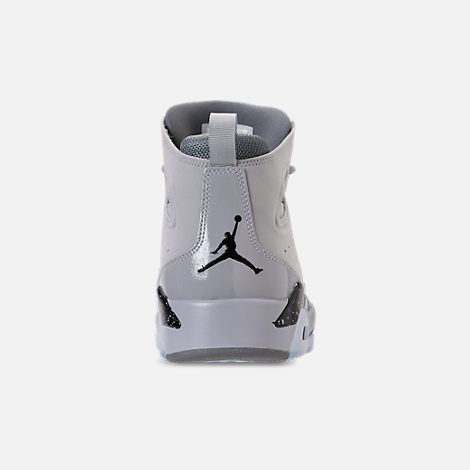 Back view of Men's Air Jordan Flight Club '91 Basketball Shoes in Wolf Grey/Black/Cool Grey
