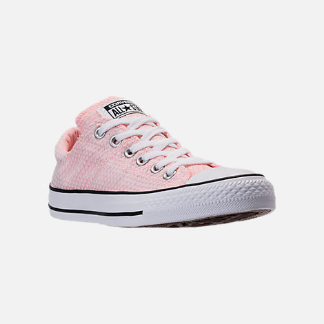 Three Quarter view of Women's Converse Chuck Taylor All Star Madison Ox Casual Shoes in Vapor Pink/White